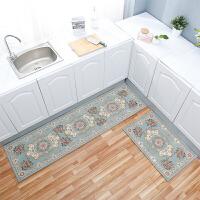 欧式厨房地垫长条防油脚垫卫浴门口防滑吸水门垫卧室床边家用地毯SN7061