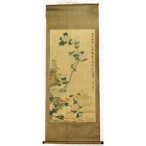 佚名《花鸟轴》纸本立轴