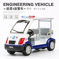合金工程车儿童警车玩具警察巡逻车男孩小汽车合金汽车模型