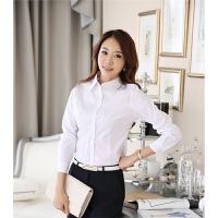新款气质修身OL职业大码白衬衫有2015春季女装韩版长袖女衬衫