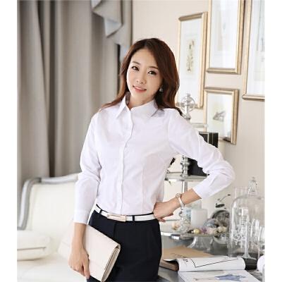 新款气质修身OL职业大码白衬衫有2015春季女装韩版长袖女衬衫 发货周期:一般在付款后2-90天左右发货,具体发货时间请以与客服协商的时间为准