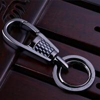 适用于保时捷宝马奔驰路虎凯迪拉克玛莎拉蒂捷豹汽车钥匙扣不锈钢男腰挂