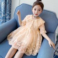 女童连衣裙夏季儿童夏装裙子童装纱裙女孩短袖公主裙