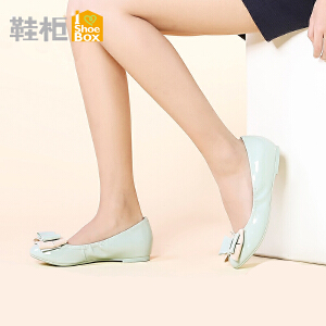达芙妮旗下鞋柜女鞋 套脚蝴蝶结甜美淑女单鞋方根浅口鞋