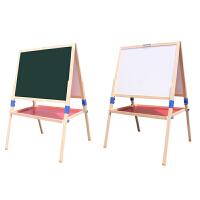 超大号可升降儿童画板小黑板支架式家用实木双面教学白板宝宝画架