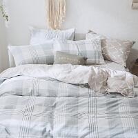 家纺全棉床上用品四件套纯棉韩式田园1.8m床单被套件1.2三件套