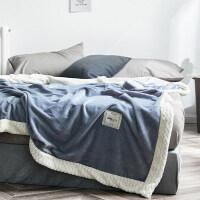 毛毯被子加厚双层珊瑚绒冬季保暖法兰绒小毯子空调毯单人午睡盖毯
