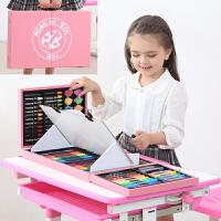 儿童礼物创意礼品实用送儿童节日10岁小男女孩8学生小孩6岁过六一 木制带画架粉色128件 画本礼袋围裙