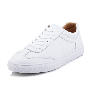 O'SHELL法国欧希尔新品065-025-7休闲头层牛皮里外全皮真皮平底女士板鞋小白鞋