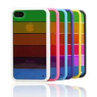 苹果4 iphone4/4s/5 七彩彩虹 手机壳保护套硅胶套透明彩虹外壳 颜色随机