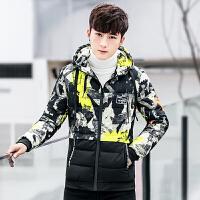 男士棉衣外套冬季新款韩版潮流刺绣短款学生个性袄子冬装