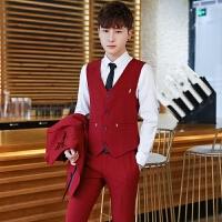 西服套装男立领韩版中山装英伦修身小西装男外套中国风西服套