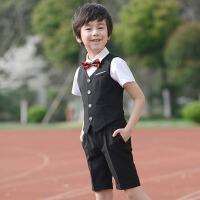 男童小西装韩版服装小学生六一演出服夏 儿童礼服婚礼花童马甲套装