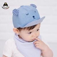 夏季儿童帽子男棒球帽宝宝遮阳鸭舌帽婴儿