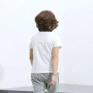 【尾品汇 5折直降】amii童装男童夏装2017新款儿童运动t恤短袖中大童半袖衫男孩上衣