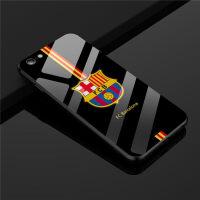 苹果6S巴萨皇马手机壳iPhone8PLUS足球队7P套X玻璃男款潮 6/6S 巴萨玻璃壳