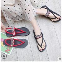 两穿凉鞋女百搭潮款时尚外穿网红平底人字拖外穿夹脚厚底海边沙滩鞋