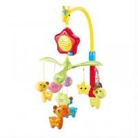 宝宝玩具0-1岁新生儿婴儿玩具小鹿音乐床铃音乐旋转挂饰床铃儿童摇铃牙胶0-3-6-12个月