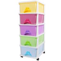 Yeya也雅PP树脂收纳柜5层塑料储物柜抽屉式收纳箱儿童玩具衣柜