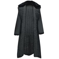 AOTU 军大衣棉大衣加厚长款男黑色劳保军大衣可拆洗冷库保暖防寒服 均码 衣长1.2米左右