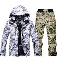 滑雪服男套装加拿大风工装户外单板滑雪服套装防水保暖加厚