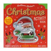 Balloon Stickers Christmas Activity Book 气球贴纸圣诞节主题活动书 MakeB