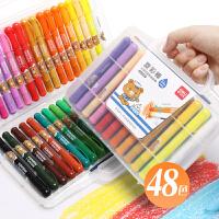 得力水溶性旋转油画棒儿童彩色蜡笔套装幼儿园安全无毒可水洗宝宝画笔小学生幼儿涂色笔涂鸦炫彩棒彩笔24色