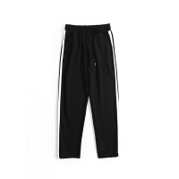 韩版青年男士运动裤长裤条纹九分休闲裤修身学生哈伦裤子潮流