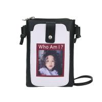 手机包女斜挎包2018新款韩版潮百搭印花少女单肩零钱包迷你小包包