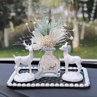 【品牌热卖】车内饰品摆件可爱创意香水中控台玩偶汽车装饰小鹿车载用品女