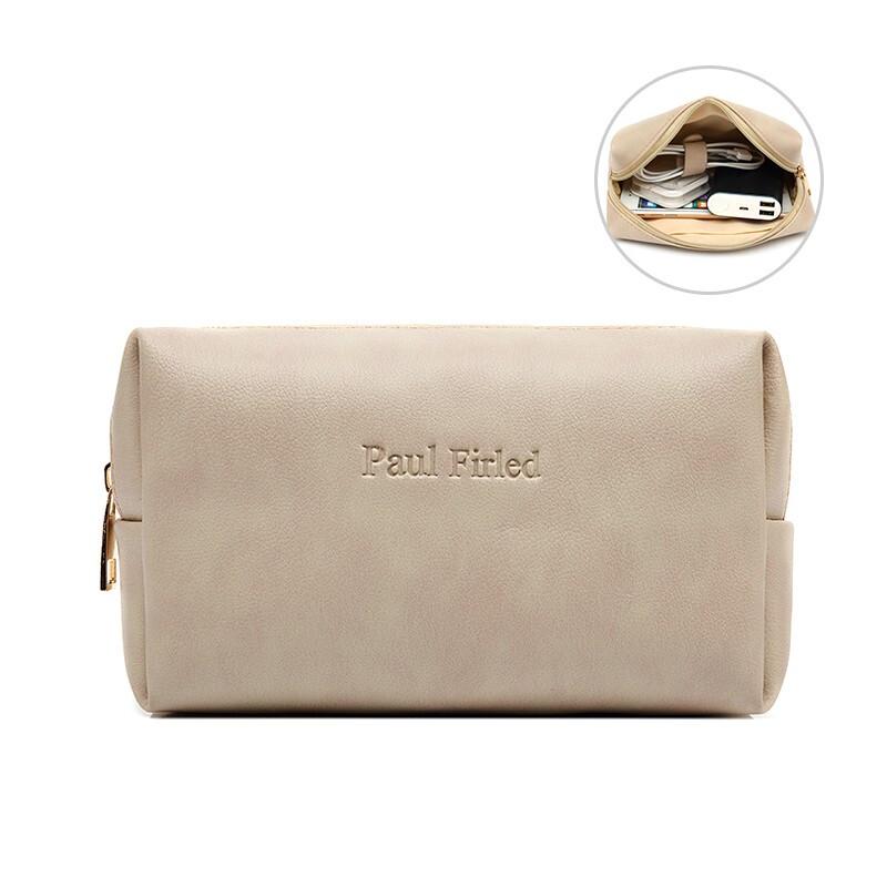 笔记本电脑配件包皮质电源包苹果收纳包便携配件包化妆包【牛皮内胆包】  适用11.6寸-15.6寸适配器