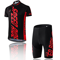 骑行服套装男 夏季骑行服短裤短上衣 单车服 自行车服