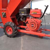 碎枝机械园林机械汽油树枝树叶粉碎机果园树木碎木机小型移动碎枝 15马力整套机