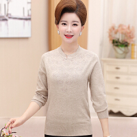 中年妇女毛衣套头半高领打底衫秋冬大码中老年妈妈装上衣40-50岁