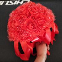 韩式手捧花新娘手捧花束仿真玫瑰结婚礼婚纱影楼摄影旅游拍照道具