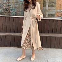 chuu百搭开衫女密针织保暖韩版宽松外套2020年新款女装春季中长款