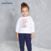 歌瑞家婴儿套头卫衣白色2017冬装新款女小童宝宝外穿长袖上衣乐友