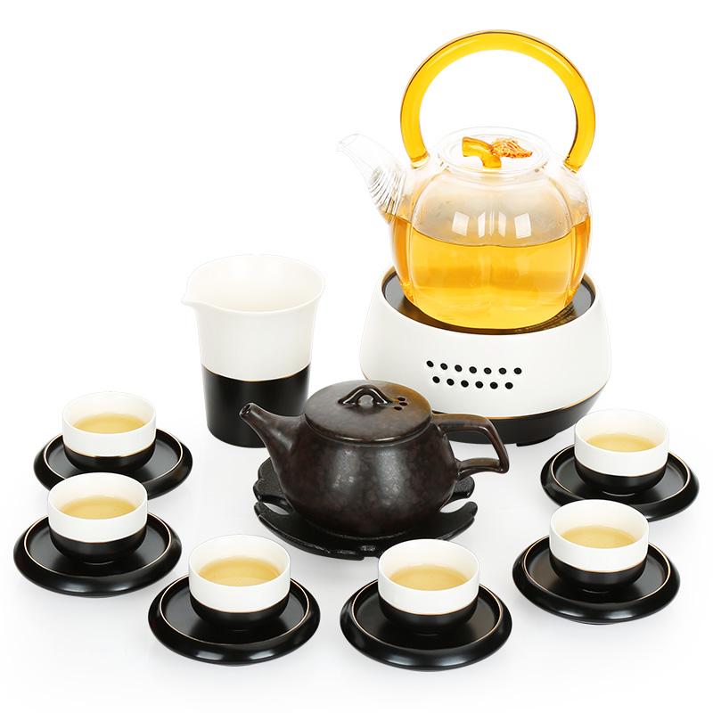 唐丰整套功夫茶具套装家用陶瓷智能电陶炉盖碗茶壶品茗杯茶道零配