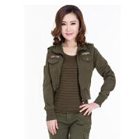 -X战队正品女装迷彩服军绿军装三件套修身纯棉军迷韩版休闲装