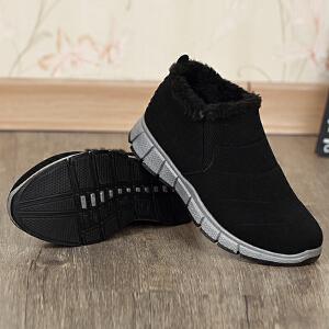 雪地靴男冬季保暖加绒男士靴子新款短靴男韩版防滑透气棉鞋男