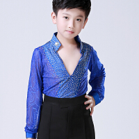 拉丁舞服装少儿标准考级演出服儿童男孩表演服男童夏季练功比赛服