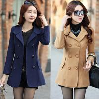 中年妇女装妈妈装秋冬天外套韩版外衣服女士30-40-50岁短款呢子35