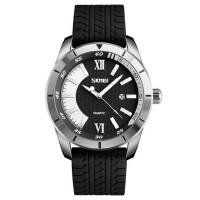男士防水个性潮流运动石英表时尚商务硅胶带腕表大表盘男表