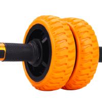 户外运动健腹轮男士家用健身 双轮腹肌轮女 巨轮静音初学者轴承滚轮瘦肚子