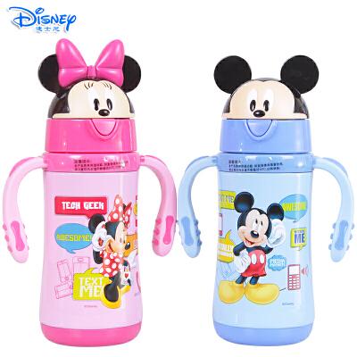 Disney/迪士尼 儿童卡通真空双效保温保冷300ML学饮杯吸管杯保温杯GX-5768
