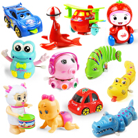 宝宝发条玩具会跑小动物婴儿幼儿上劲上弦铁皮青蛙玩具0-1岁