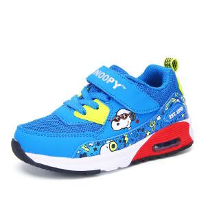 史努比童鞋春秋新品男童运动鞋儿童网鞋透气男孩跑步鞋学生休闲鞋