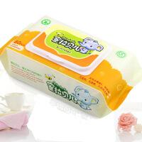 蜜拉贝儿 婴儿湿巾 手口专用80片带盖湿纸巾