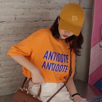 春夏女装韩版原宿风字母印花短袖T恤宽松百搭打底衫体恤上衣学生