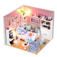 迷你diy小屋手工房子�e墅模型�和�玩具情人��Y物女孩公主房